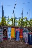 Straßenshop in Anacapri, Capri, Italien Lizenzfreie Stockfotos