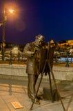 Straßenskulpturen Statue des berühmten ungarischen Malers Roskovics Ignac Budapest Stockfoto