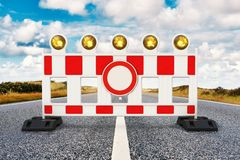 Straßensperre Lizenzfreies Stockfoto
