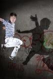 Straßenspringen Stockfoto