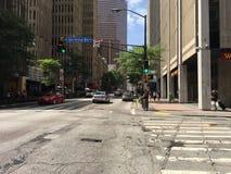 Straßenstadtsommer atl Stadtzentrum Atlantas Georgia im Stadtzentrum gelegenes lizenzfreies stockfoto