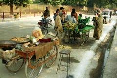Straßenszene in einem indischen Dorf Lizenzfreie Stockfotos