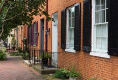 Straßenszene in Frederick Maryland lizenzfreies stockbild