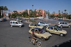 Straßenszene in Marrakesch Stockbild