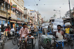 Straßenszene von Kolkata Lizenzfreies Stockbild