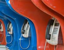 Straßentelefone. Russland Lizenzfreies Stockfoto