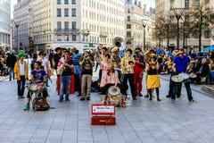 Straßentheater, Lyon, Frankreich