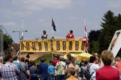Straßentheaterfestival in Doetinchem, die Niederlande am 1. Juli Stockbild