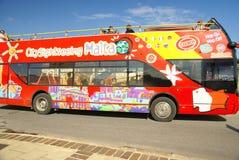 Straßentransport n die Insel von Malta Lizenzfreies Stockbild