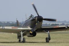 Straßenverkäufer-Hurricane-Kampfflugzeug stockbild