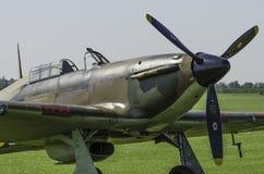 Straßenverkäufer-Hurricane-Kampfflugzeug stockfoto