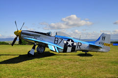 Straßenverkäufer-Hurricane-Kampfflugzeug stockfotos