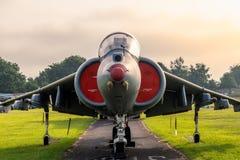 Straßenverkäufer-Siddley Harrier Jump-Jet stockfoto