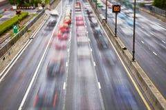 Straßenverkehr auf Straßen Stockbilder