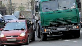 Straßenverkehrsunfall stock video footage