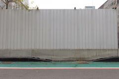 Straßenwandhintergrund, industrielles bakcground keramische Ziegelstein-Fliesenwand, nahtlose Backsteinmauer Stockfotos