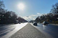 Straße des 17 Juni in Berlijn, Duitsland Stock Afbeeldingen