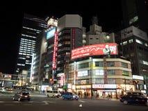 Straße in Tokyo Shinjuku stockbilder
