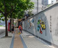 Straße von Chengdu, China lizenzfreie stockbilder