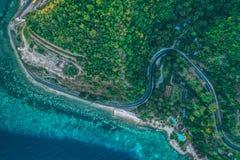 Straße zu Boljoon Cebu Philippinen stockbild