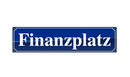 Stra�en-Namensschild Finanzplatz Royalty Free Stock Photo