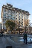 Straßen-Prinz Michael Street Knez Mihailova in der Mitte der Stadt von Belgrad, Serbien lizenzfreies stockfoto