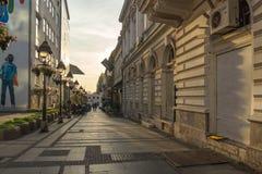 Straßen-Prinz Michael Street Knez Mihailova in der Mitte der Stadt von Belgrad, Serbien lizenzfreie stockbilder