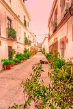 Straßen von Tarifa andalusia cadiz spanien stockbilder