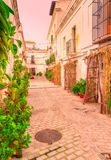 Straßen von Tarifa andalusia cadiz spanien stockfotografie