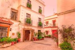 Straßen von Tarifa andalusia cadiz spanien stockfotos