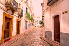 Straßen von Tarifa andalusia cadiz spanien stockbild