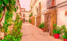 Straßen von Tarifa andalusia cadiz spanien lizenzfreies stockfoto