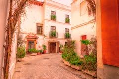 Straßen von Tarifa andalusia cadiz spanien lizenzfreies stockbild