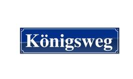 Straßen-Namensschild Königsweg Royalty Free Stock Images