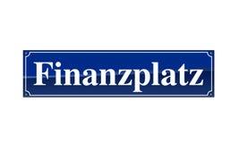 StraÃen-Namensschild Finanzplatz Photo libre de droits