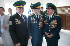 Straż Graniczna dzień w Cherkassy Obrazy Stock