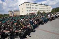 Straż Graniczna dzień w Cherkassy Obraz Stock