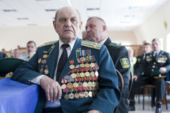 Straż Graniczna dzień w Cherkassy Fotografia Stock