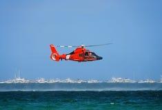 straż przybrzeżna helikopter Zdjęcie Royalty Free
