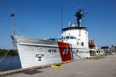 Straż Przybrzeżna statek Dokujący Fotografia Royalty Free
