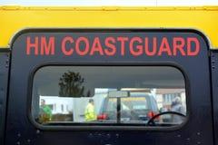 Straż wybrzeża pojazdy przy Bridlington wschodem Yorkshire Obrazy Stock