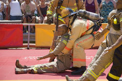 strażacy działania Obrazy Royalty Free