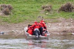 Strażacy w łodzi Fotografia Royalty Free