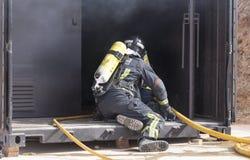 Strażaków pracować Zdjęcia Stock