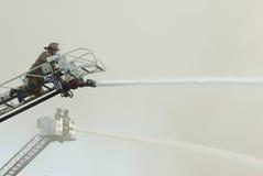 strażak powietrzna scena Zdjęcie Royalty Free