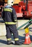 Strażak przy pracą Fotografia Royalty Free