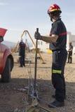 Strażaka działanie Obraz Stock