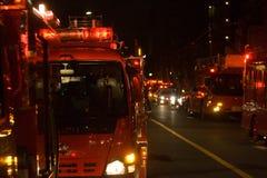 Strażaka ogień w Tokio Zdjęcia Royalty Free