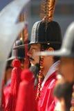 Strażnicy przy Gyeongbok pałac Seul, Południowy Korea Fotografia Royalty Free