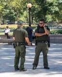 Strażnicy w central park Nowy Jork zdjęcie stock